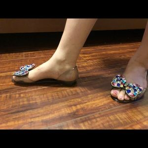 New Clear Flats with Sparkling Beads